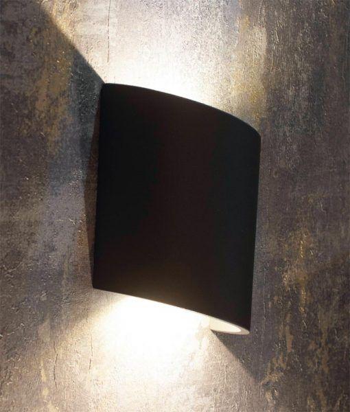 Aplique LED gris oscuro SOCHI detalles