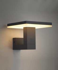 Aplique LED gris oscuro TIGNES detalles