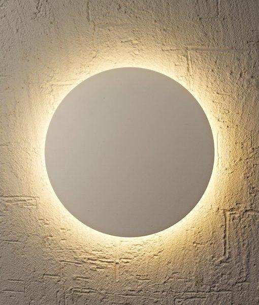 Aplique mediano blanco BORA BORA LED detalle