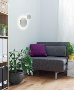 Aplique mediano plata BORA BORA LED ambiente