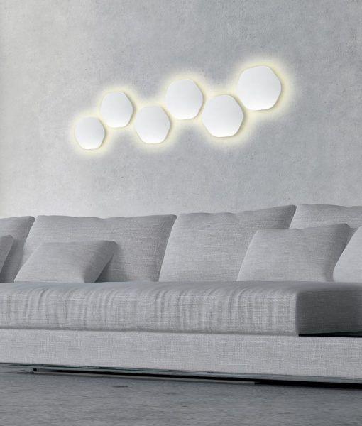 Aplique original LED blanco BORA BORA ambiente