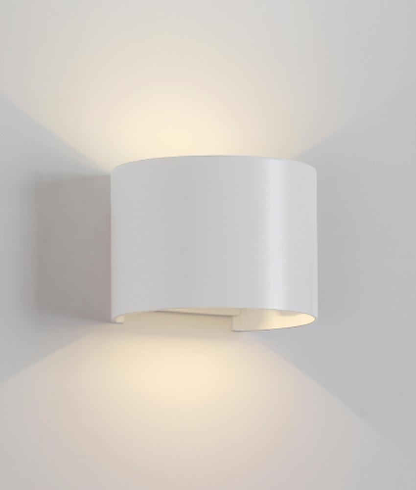 Aplique ovalado LED blanco DAVOS