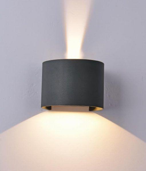 Aplique ovalado LED gris oscuro DAVOS