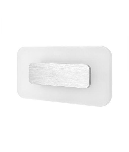 Aplique rectangular níquel satinado SOL LED