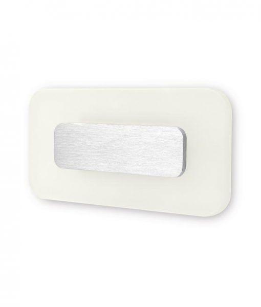 Aplique rectangular níquel satinado SOL LED detalle luz