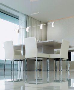 Colgante lineal LED blanco TSUNAMI ambiente