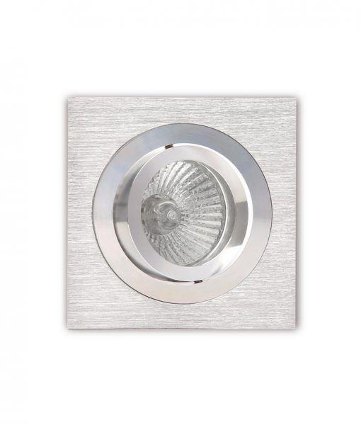 Empotrable cuadrado 9,2 cm níquel y cromo BASICO GU10