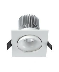 Empotrable cuadrado LED luz cálida 7W FORMENTERA