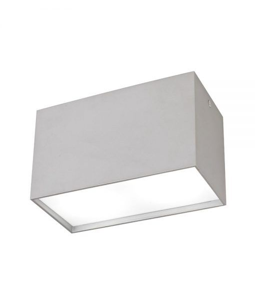 Foco de superficie 2L color plata KAILUA