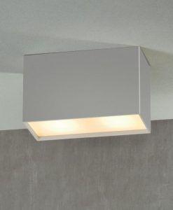 Foco de superficie 2L color plata KAILUA detalle