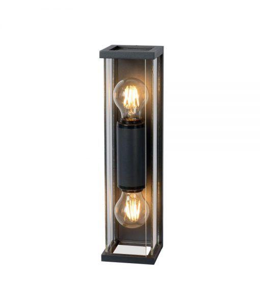 Lámpara aplique 2 luces gris oscuro MERIBEL