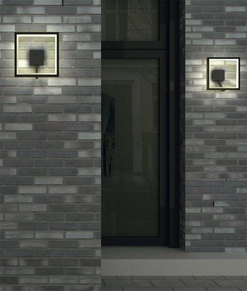 Lámpara aplique LED gris oscuro RODAS ambiente