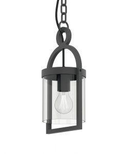 Lámpara colgante gris oscuro MAYA detalles
