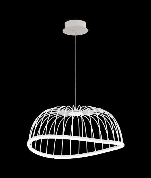 Lámpara colgante mediana blanca CELESTE LED detalles