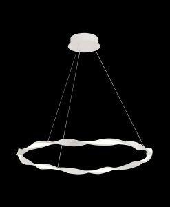 Lámpara colgante mediana blanca MADAGASCAR detalles