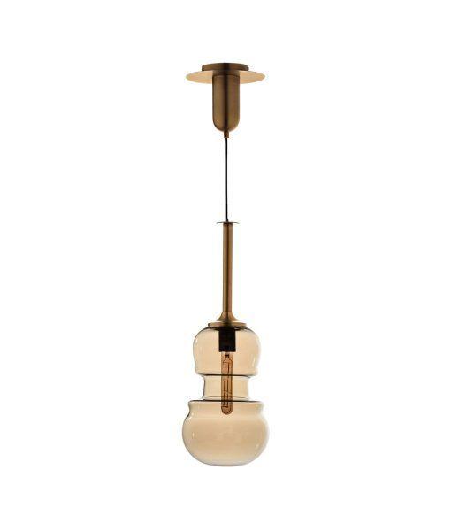 Lámpara colgante mediana bronce SONATA