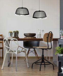 Lámpara colgante pequeño negro CELESTE LED ambiente