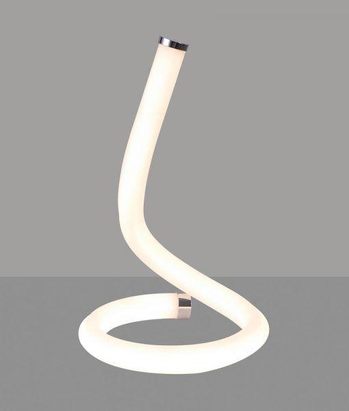 Lámpara de mesa cromo y blanco NUR LINE LED detalle