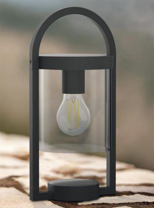 Lámpara de mesa gris oscura MAYA ambiente