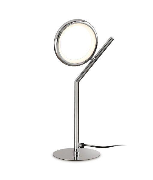 Lámpara de mesa LED cromo OLIMPIA