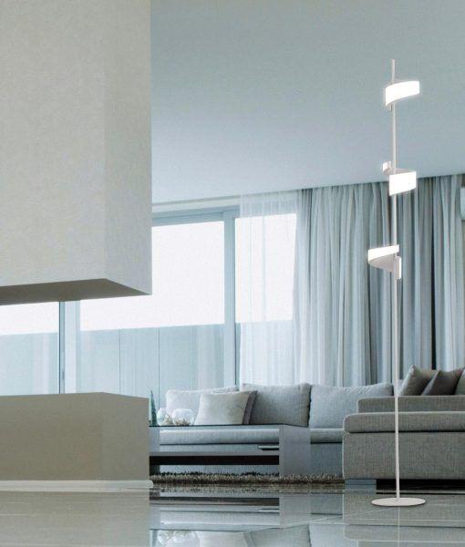 Lámpara de pie LED blanco TSUNAMI ambiente