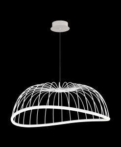 Lámpara de techo grande blanca CELESTE LED detalles