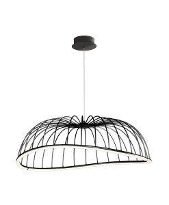 Lámpara de techo grande negro CELESTE LED