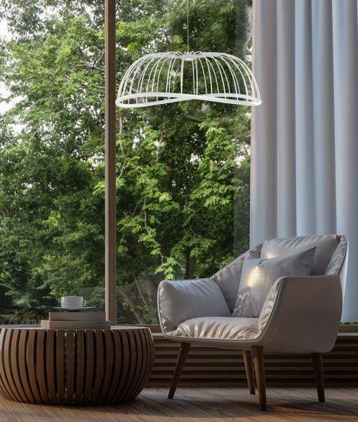 Lámpara de techo grande negro CELESTE LED ambiente