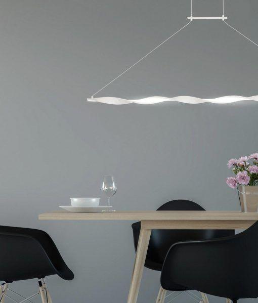 Lámpara lineal blanca MADAGASCAR ambiente