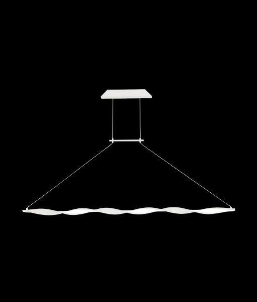 Lámpara lineal blanca MADAGASCAR detalles