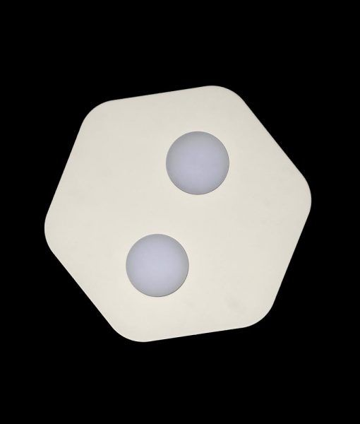 Lámpara plafón blanco 2 luces AREA detalle
