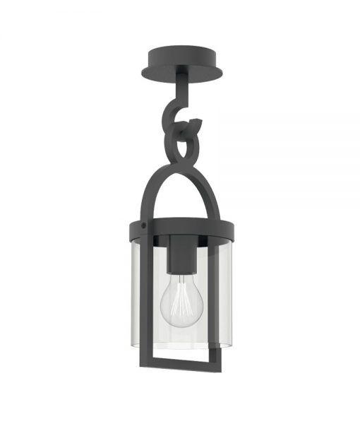Lámpara plafón gris oscuro MAYA
