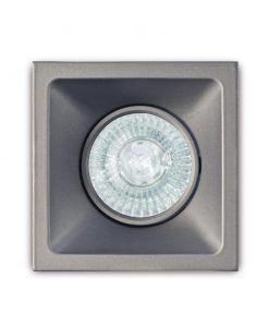 Ojo de buey 9,2 cm plata COMFORT GU10 detalle