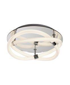 Plafón de diseño cromo y blanco INFINITY LINE LED