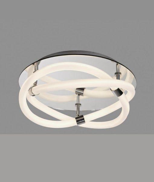 Plafón de diseño cromo y blanco INFINITY LINE LED detalles
