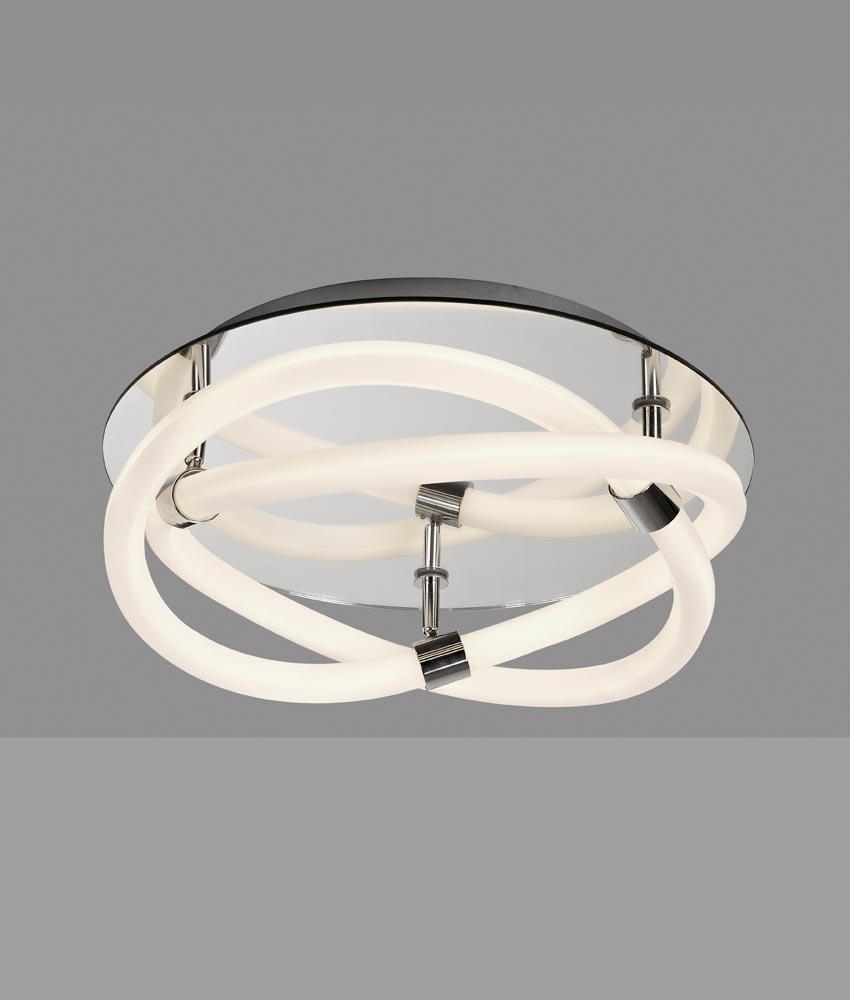 diseño LED cromo LINE de y Plafón blanco INFINITY FK1cJTl3