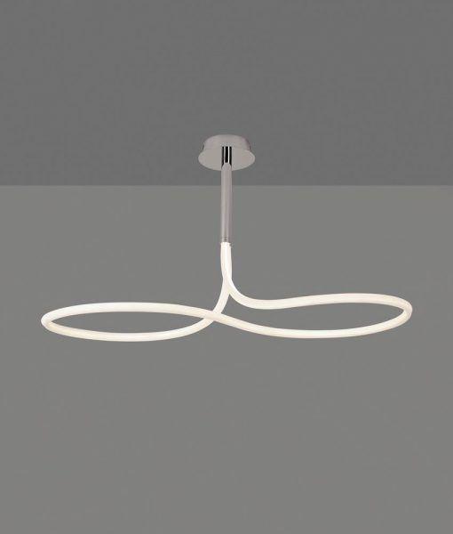 Plafón de techo cromo y blanco NUR LINE LED detalles