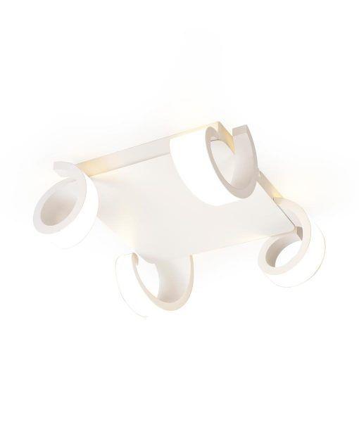 Plafón LED blanco TSUNAMI detalle