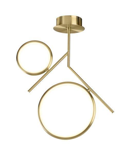 Semiplafón dos aros oro satinado OLIMPIA LED