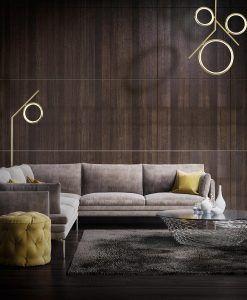 Lámparas oro satinado OLIMPIA LED ambiente