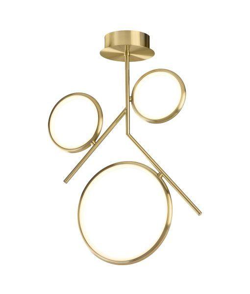 Semiplafón oro satinado OLIMPIA LED