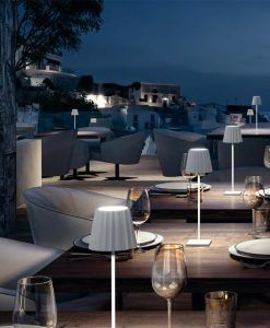 Sobremesa portátil blanca K2 LED ambiente