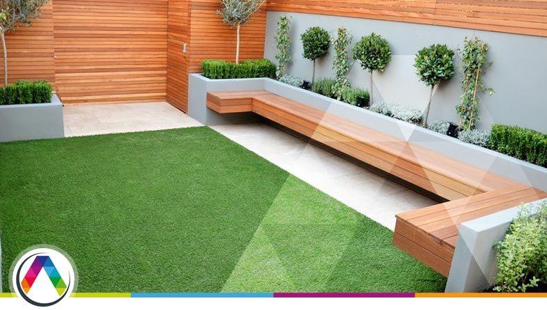 Jardín de estilo moderno