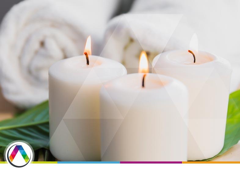 Iluminación y decoración con velas