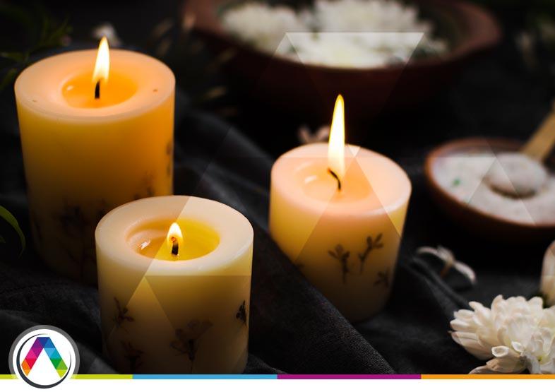 Cuidado al colocar las velas