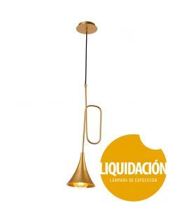 Liquidación lámpara oro mate JAZZ