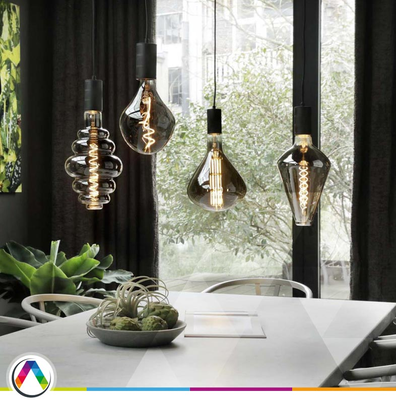 Modelos de bombillas decorativas vintage de filamentos flexibles LED