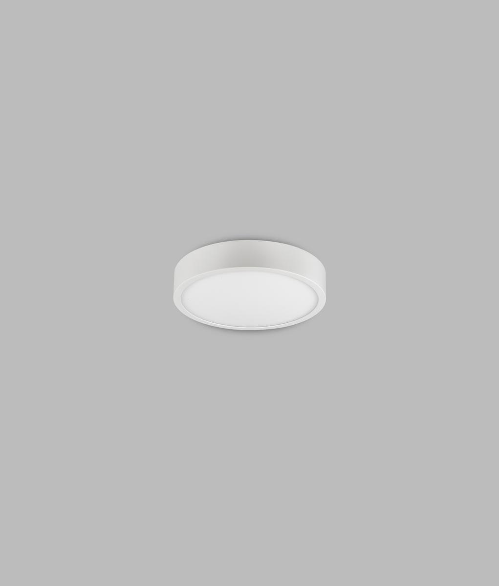 Plafón superficie 12 cm Ø luz neutra 8W SAONA