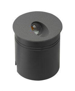 Señalizador redondo gris oscuro 8 cm Ø ASPEN