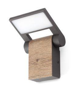 Aplique gris oscuro orientable WOOD LED